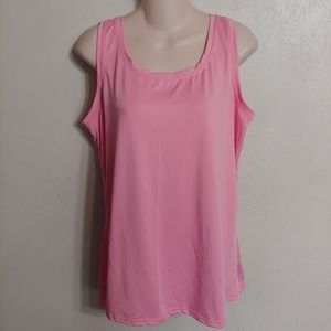 Ashley Stewart pink tank top size women's 14/16